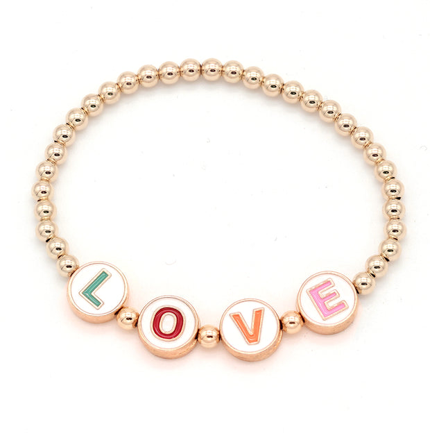 The Customizable Armcandy Bracelet with Enamel Letters