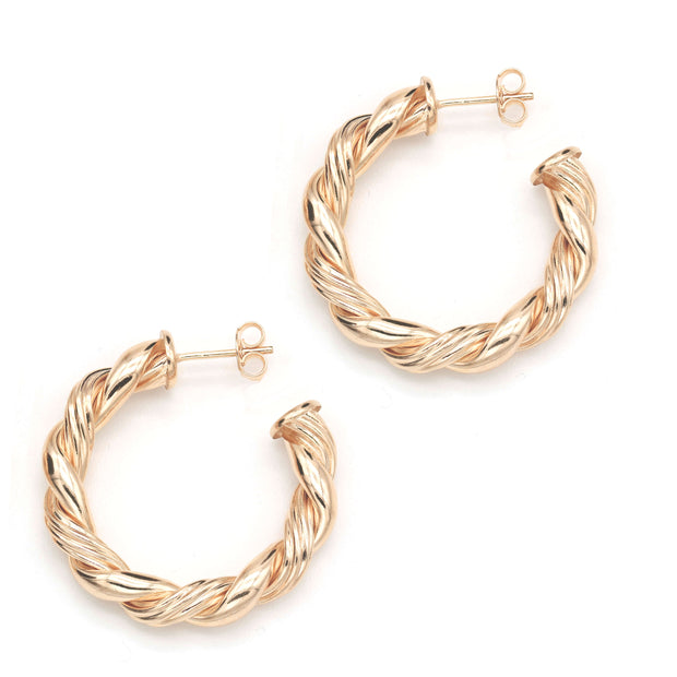 The Woven Gold Filled Hoops