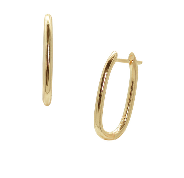 The Dainty Rectangular Hoops