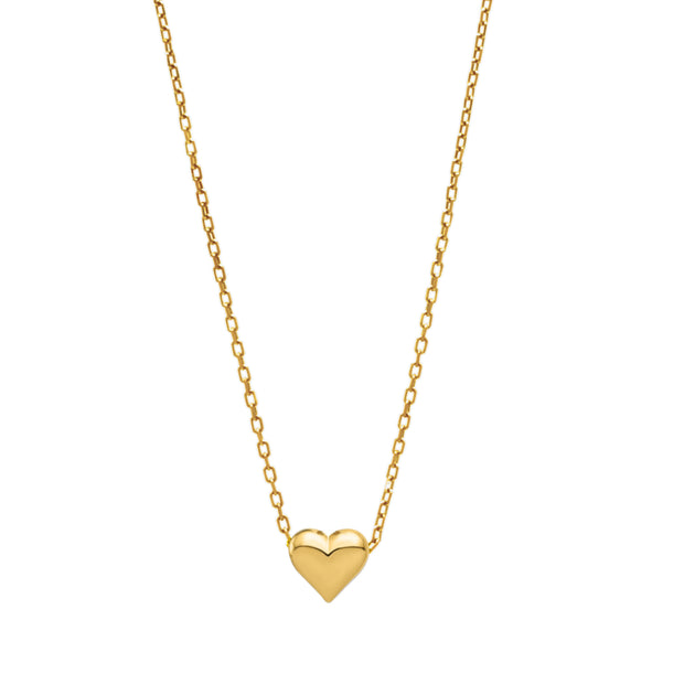 Sliding Puffed Heart Necklace