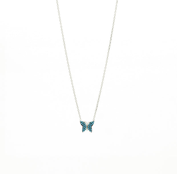 The Sky Blue Butterfly Necklace