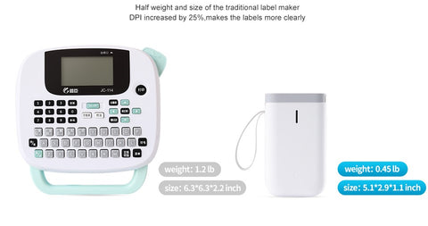 A comparison of why the Portable Wireless Label Printer is better than brother label printer or dymo label printer.