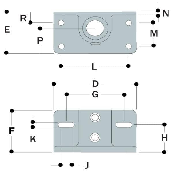 Type 69 - Railing Flange With Toeboard Adaptor