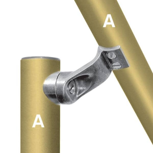 Aluminum Fitting Type L160 - Smooth Handrail Fitting