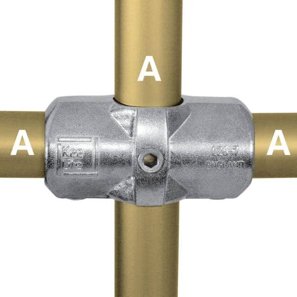 Aluminum Fitting Type L26 - Two Socket Cross