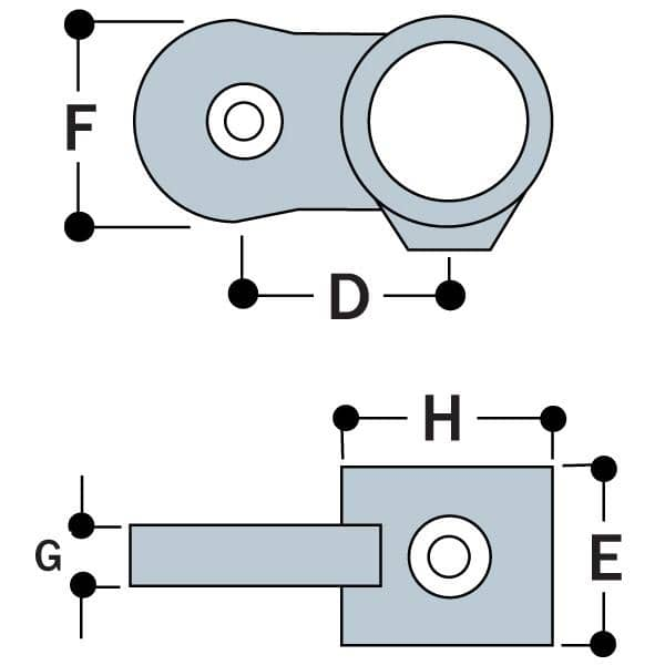 Type MH50 - Male Single Horizontal Swivel Socket Member