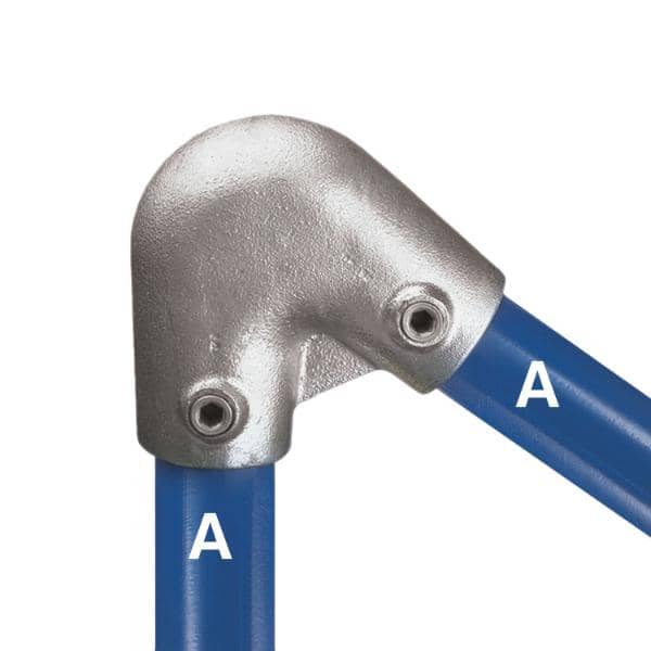 Galvanized Fitting Type 56 - Acute Angle Elbow