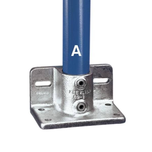 Galvanized Fitting Type 69 - Railing Flange With Toeboard Adaptor