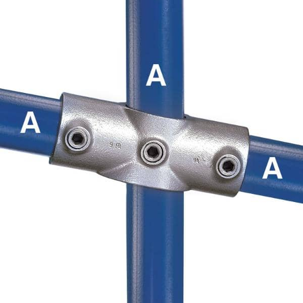 Galvanized Fitting Type 89 - Two Socket Angle Cross