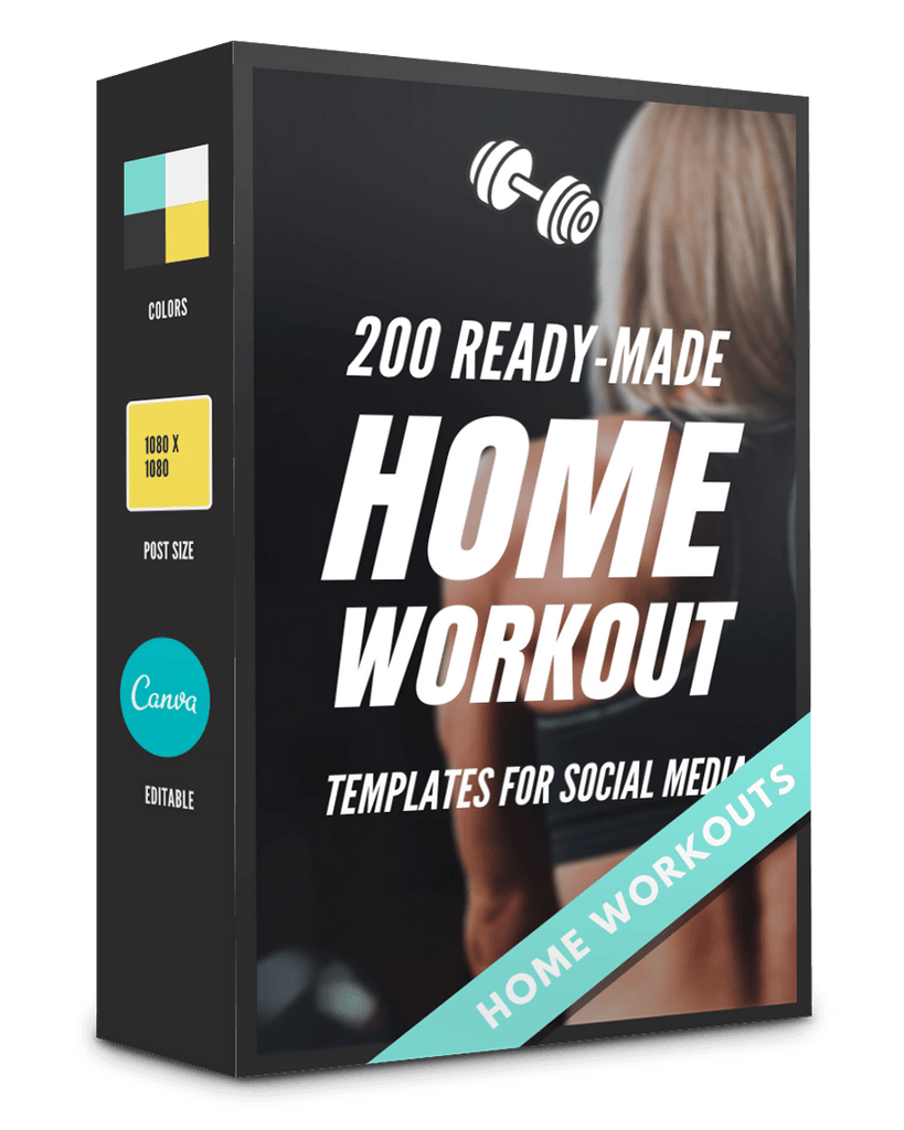 200 Home Workout Templates For Social Media