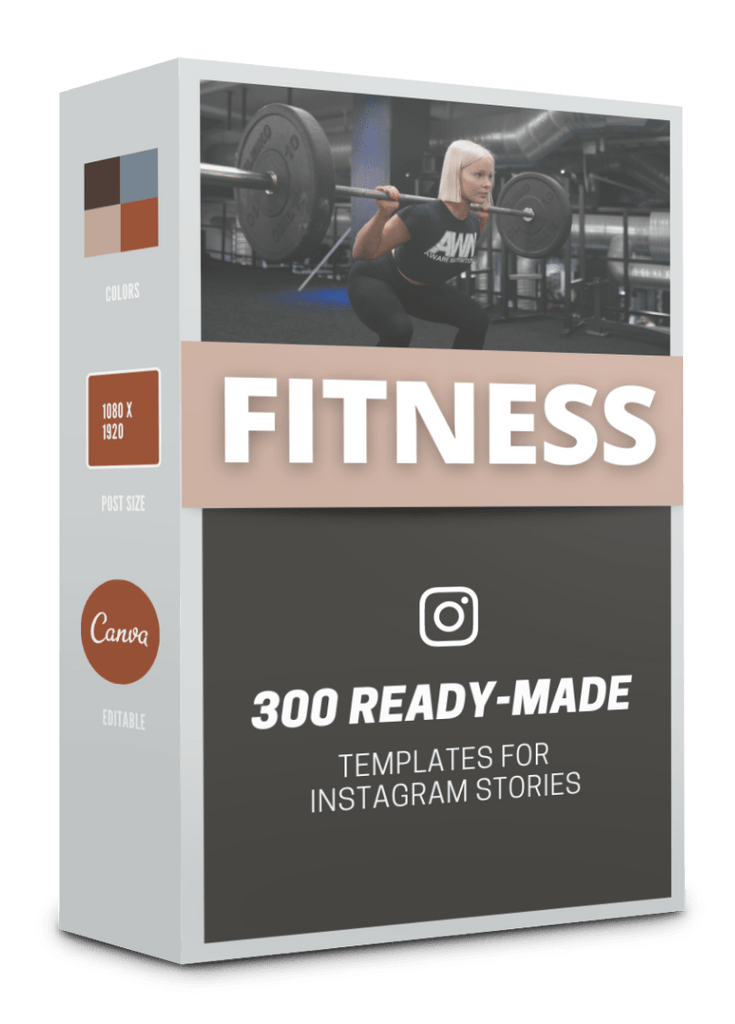 300 Fitness Story Templates For Social Media