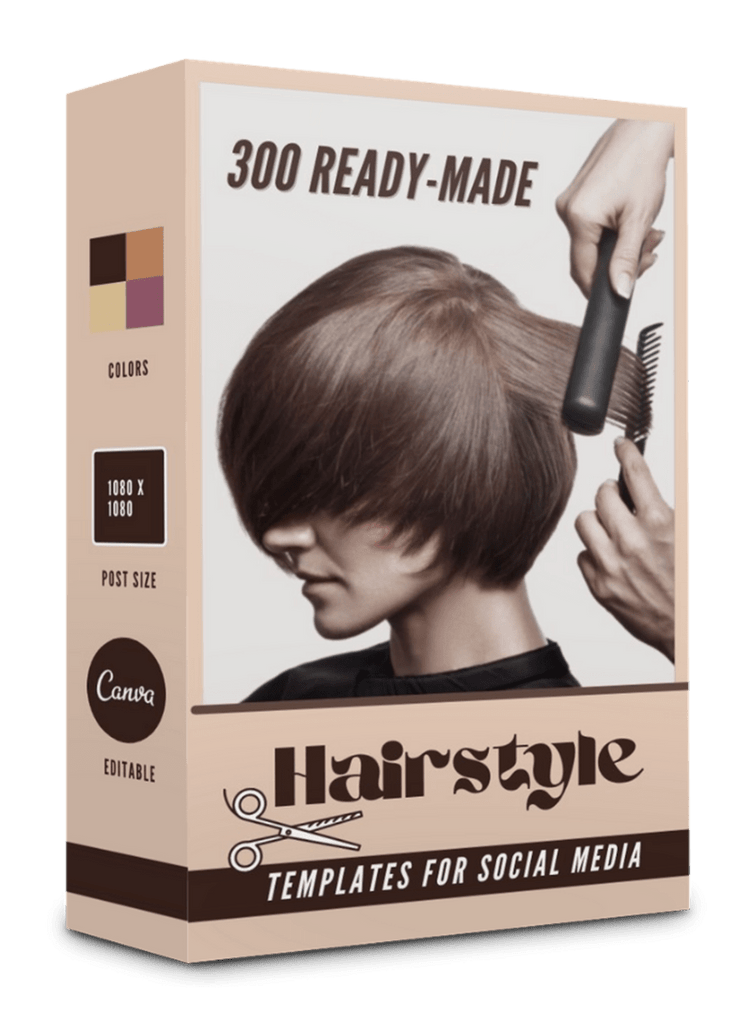300 Hairstyle Templates for Social Media