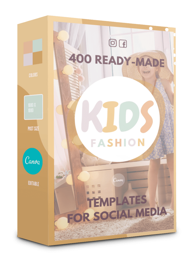 400 Kids Fashion Templates For Social Media