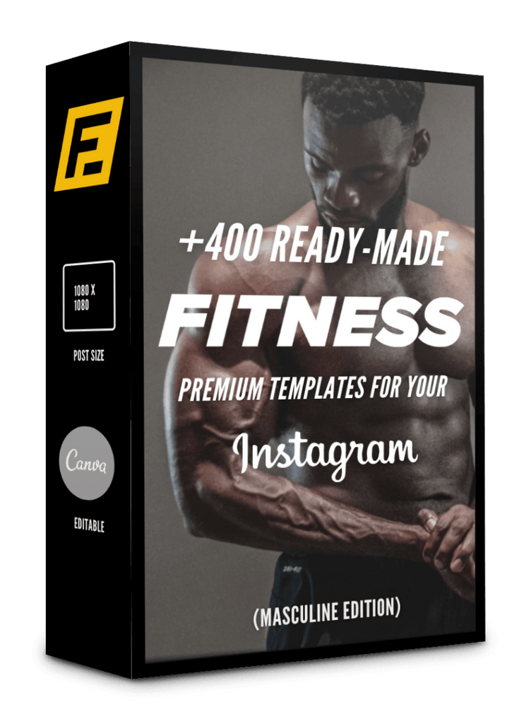 400 Fitness Templates For Social Media (Masculine version)