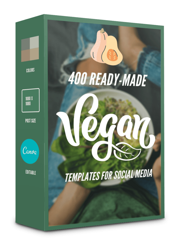 400 Vegan Templates For Social Media