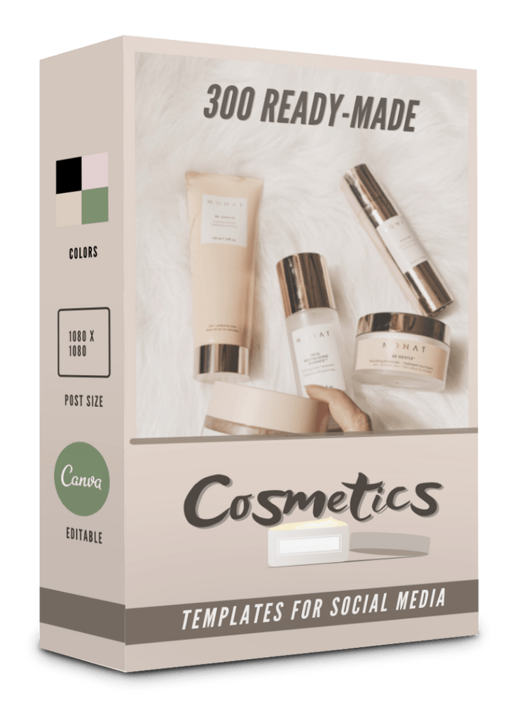 300 Cosmetics Templates for Social Media