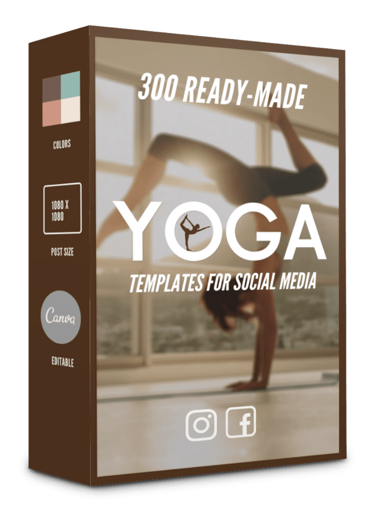 300 Yoga Templates for Social Media