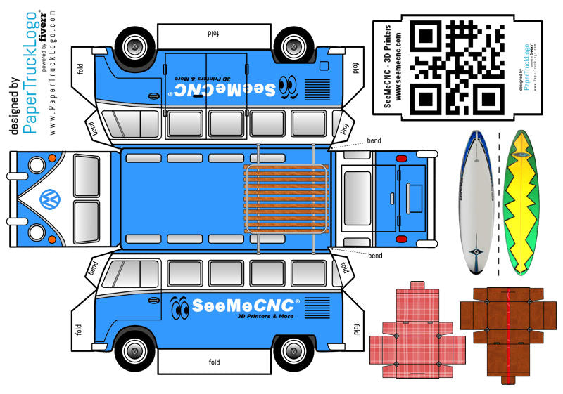 seemecnc vw papercraft truck welcome to the seemecnc community. Black Bedroom Furniture Sets. Home Design Ideas