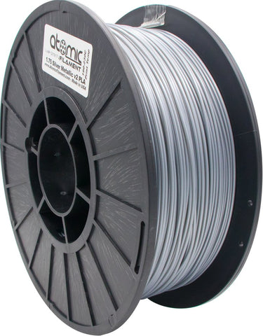 1.75mm Metallic Silver V2 PLA Atomic Filament 1kg Spool