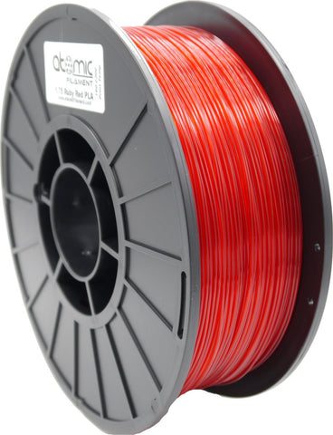 1.75 mm Gemstone Ruby Red Translucent PLA Atomic Filament 1kg Spool