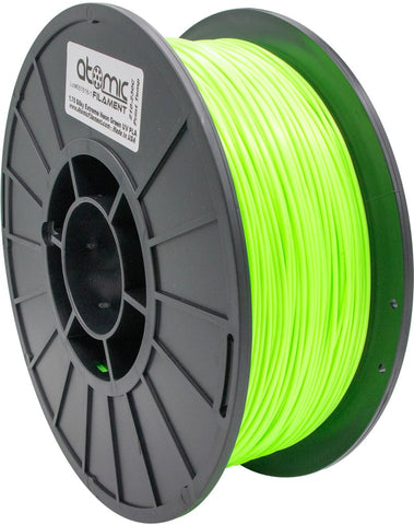1.75 mm Silky Extreme Bright Neon Green UV Reactive PLA Atomic Filament 1kg Spool