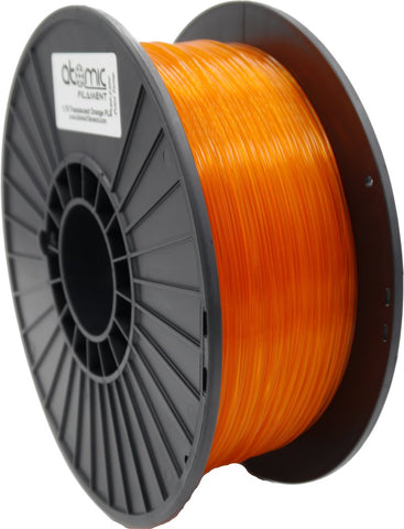 1.75 mm Translucent Bright Orange PLA Atomic Fliament 1kg Spool