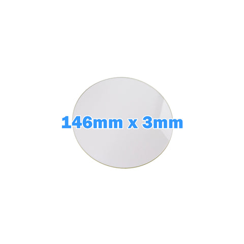 Eris Replacement Borosilicate Glass Build Plate 146mm Diameter