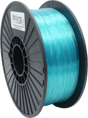1.75mm Aqua Translucent Atomic Filament PLA 1kg Spool-Filament-SeeMeCNC