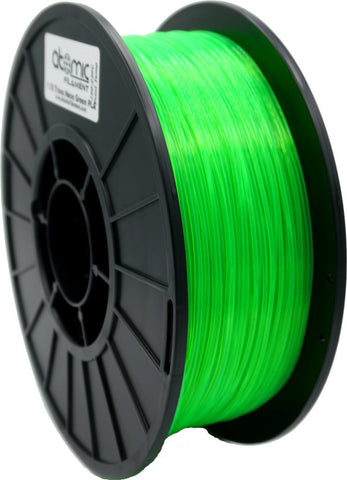 1.75mm Translucent UV Reactive Neon Green Atomic Filament PLA 1kg Spool-Filament-SeeMeCNC
