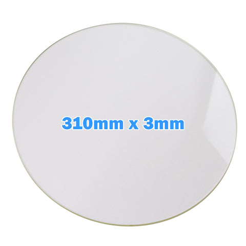 310mm Diameter Boro Glass Build Plate
