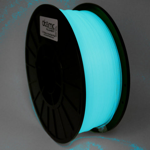 1.75mm Aqua Glow In The Dark PLA Atomic Filament 3D Printer Filament