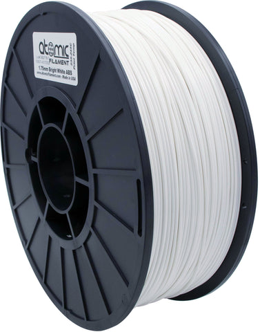 1.75mm Bright White Opaque ABS Atomic Filament 1kg Spool
