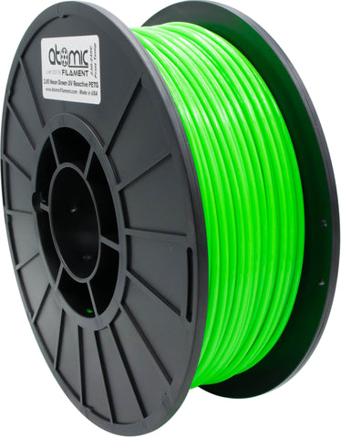 1.75 mm Neon Green UV Reactive Opaque PETG Atomic Filament 1kg Spool