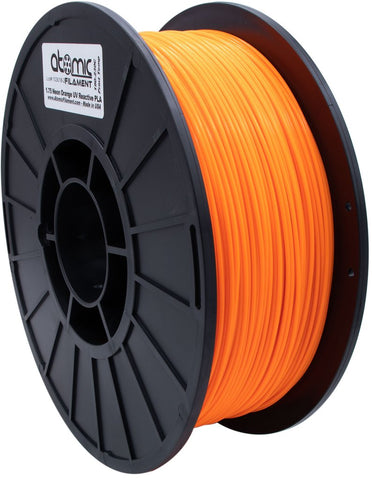 1.75 mm Neon Orange UV Reactive Opaque PETG Atomic Filament 1kg Spool