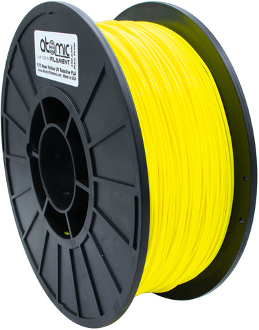 1.75mm Neon Yellow UV Reactive PLA Atomic Filament 1kg Spool