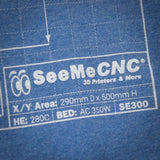 SeeMeCNC Short Sleeve Blue/White T-Shirt Artemis Blueprint