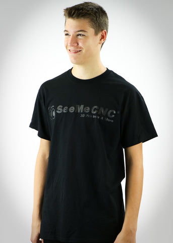 SeeMeCNC Short Sleeve Black/Black T-Shirt Back in Black
