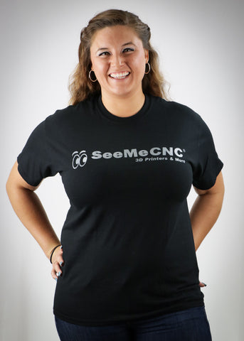 SeeMeCNC Short Sleeve Black/Silver T-Shirt Corporate