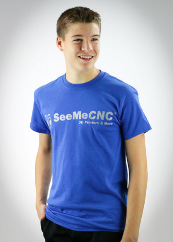 SeeMeCNC Short Sleeve Royal Blue/Silver T-Shirt Orion Blue