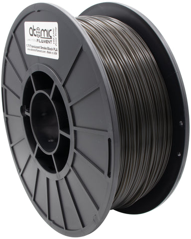 1.75mm Translucent Smoke Black PLA Atomic Filament 1kg Spool