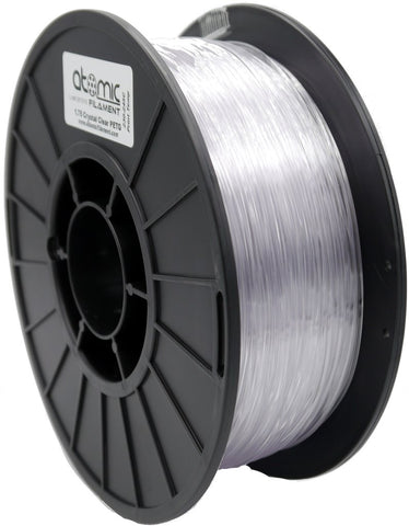 1.75mm Crystal Clear/Natural PETG Atomic Filament 1kg Spool