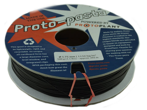 Proto Pasta Carbon Fiber 1.75mm PLA 3D Printer Filament .5kg Spool-Filament-SeeMeCNC