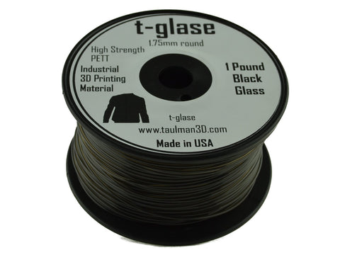 Taulman 1.75mm BLACK T-Glase Filament 1# spool-Filament-SeeMeCNC