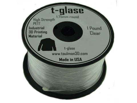 Taulman 1.75mm CLEAR T-Glase Filament 1# spool-Filament-SeeMeCNC