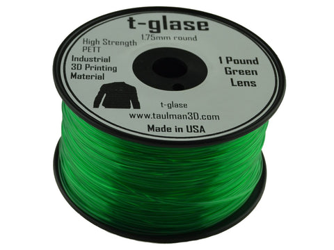 Taulman 1.75mm GREEN T-Glase Filament 1# spool-Filament-SeeMeCNC