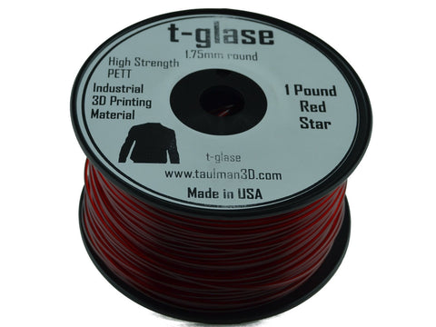 Taulman 1.75mm RED T-Glase Filament 1# spool-Filament-SeeMeCNC