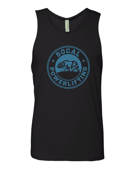 Black/Teal Cotton Tank