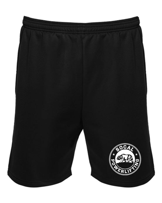 Black Unisex Polyfleece Shorts