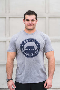 Unisex Gray SoCal Powerlifting Tee