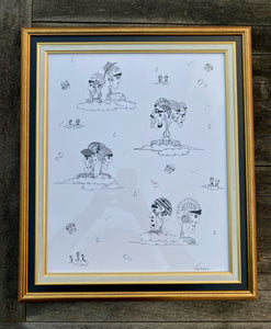 Nuagés - Framed Original Ink